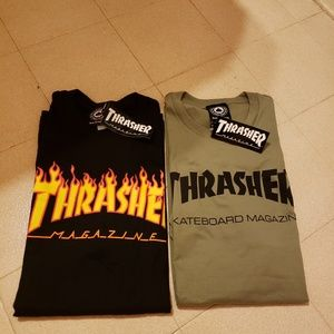 "Thrasher ""Black Flames & Green"" Bundle"